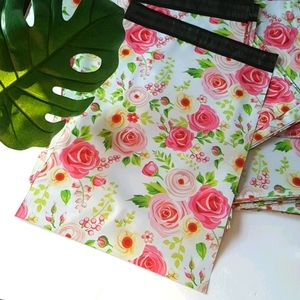 """25 pcs Floral Design Poly Mailers 11x15.25"""" inches"""